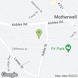 Map of Motherwell South Parish Church in Motherwell, lanarkshire
