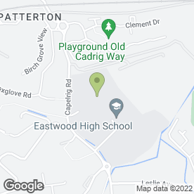 Map of Eastwood High School in Newton Mearns, Glasgow, lanarkshire