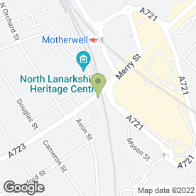 Map of Wok Express in Motherwell, lanarkshire