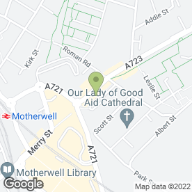 Map of The China House in Motherwell, lanarkshire