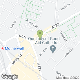 Map of Kamran Tandoori in Motherwell, lanarkshire