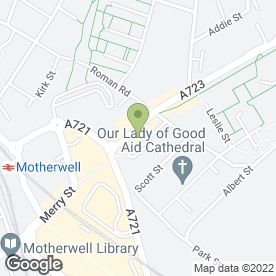 Map of Terry Dunn Academy in Motherwell, lanarkshire