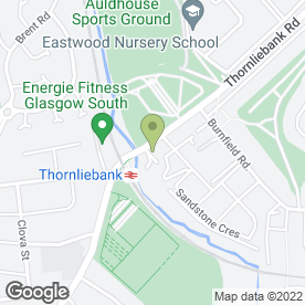 Map of Thornliebank Motor in Thornliebank, Glasgow, lanarkshire