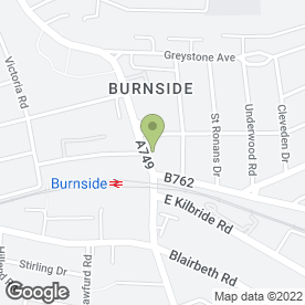 Map of Burnside Pharmacy in Rutherglen, Glasgow, lanarkshire
