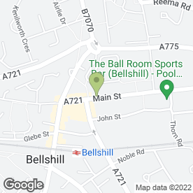 Map of Cheque Centre in Bellshill, lanarkshire
