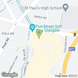 Map of Debenhams in Pollok, Glasgow, lanarkshire