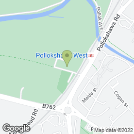 Map of Pollokshaws Bowling Club in Glasgow, lanarkshire