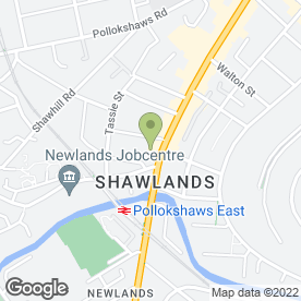 Map of Pacitti Jones in Glasgow, lanarkshire