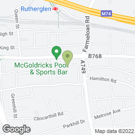 Map of Superdrug Stores plc in Rutherglen, Glasgow, lanarkshire