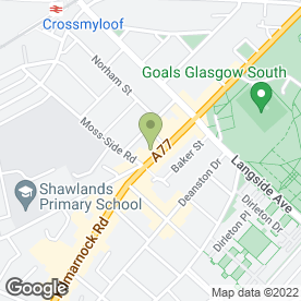 Map of Zigzag in Glasgow, lanarkshire