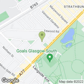 Map of Vellow Wood Ltd in Glasgow, lanarkshire