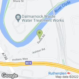 Map of PTS Clean in Glasgow, lanarkshire