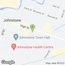 Map of Clydesdale Bank plc in Johnstone, renfrewshire