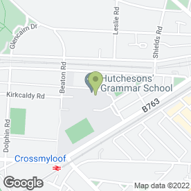 Map of Hutchesons' Grammar School in Glasgow, lanarkshire