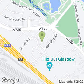 Map of Shawfield Timber Ltd in Rutherglen, Glasgow, lanarkshire