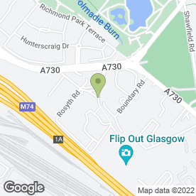 Map of Grafters (Scotland) Ltd in Shawfield, Glasgow, lanarkshire