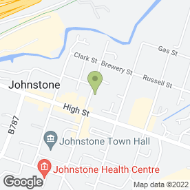 Map of Strathclyde Tyre Services in Johnstone, renfrewshire