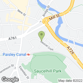 Map of Y Naught Media in Paisley, renfrewshire