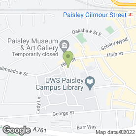 Map of AAK Plastering & Roofing in Paisley, renfrewshire