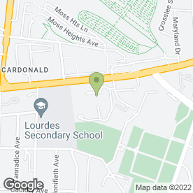 Map of Nazareth House in Cardonald, Glasgow, lanarkshire