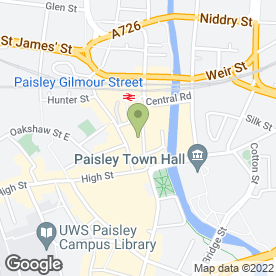 Map of WALKER LAIRD SOLICITORS in Paisley, renfrewshire