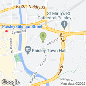 Map of Corum Estate Agents in Paisley, renfrewshire