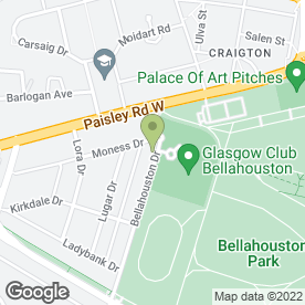 Map of G52 Builders in Glasgow, lanarkshire