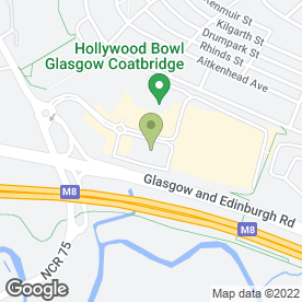 Map of Hollywood Bowl in Baillieston, Glasgow, lanarkshire