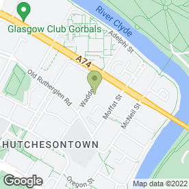 Map of John McVey Removals in Glasgow, lanarkshire