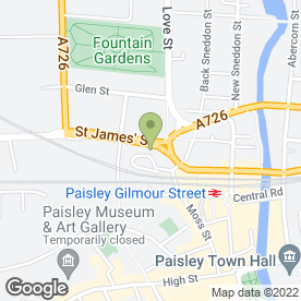Map of The Court Bar in PAISLEY, renfrewshire