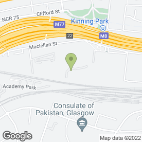 Map of Len Lothian U-Store in Kinning Park, Glasgow, lanarkshire