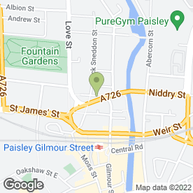 Map of Alistair Brown Chartered Accountants in Paisley, renfrewshire