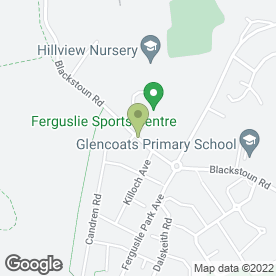 Map of Ferguslie Park Sports Recreation & Leisure Centre in Paisley, renfrewshire