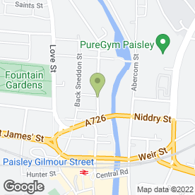 Map of DRM DRIVER TRAINING CENTRE in Paisley, renfrewshire