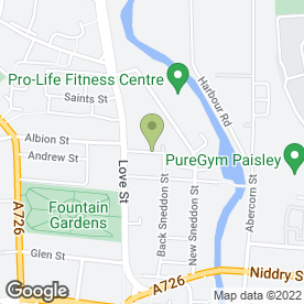 Map of Spark Solutions Ltd in Paisley, renfrewshire