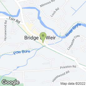 Map of Amaretto Ristorante & Pizzeria in Bridge Of Weir, renfrewshire