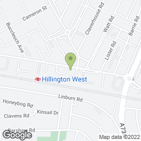 Map of Hillington MOT Centre Ltd in Hillington Park, Glasgow, lanarkshire