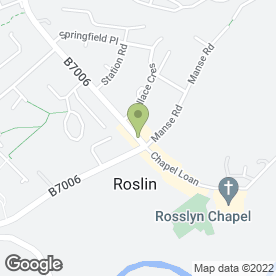Map of The Old Orginal Roslin Hotel in Roslin, midlothian