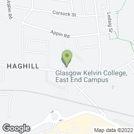 Map of John Wheatley College in Glasgow, lanarkshire