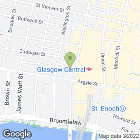 Map of Glasgow Central Low Level Railway Station in Glasgow, lanarkshire