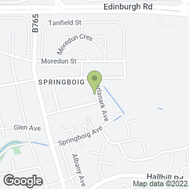 Map of Baillies Marquees in Springboig, Glasgow, lanarkshire