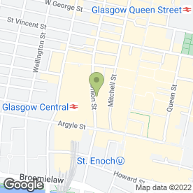 Map of Shahed's City Centre Tandoori Take Away in Glasgow, lanarkshire