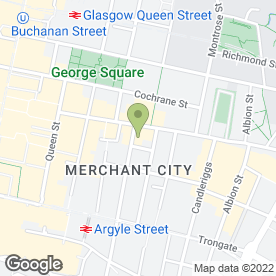 Map of Bacchus in Glasgow, lanarkshire