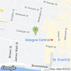 Map of Cook & Co in 50 Wellington Street, Glasgow, lanarkshire