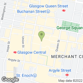 Map of Whittard of Chelsea in Glasgow, lanarkshire