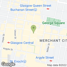 Map of The Rogano Restaurant in Glasgow, lanarkshire