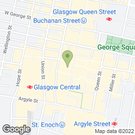 Map of O2 in Glasgow, lanarkshire