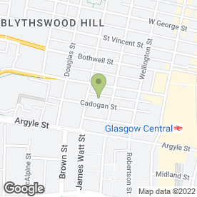 Map of La Cherie the House of Beauty in Glasgow, lanarkshire