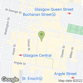 Map of Public Bier Halles Bars & Clubs Ltd in Glasgow, lanarkshire