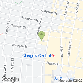 Map of HDG Chartered Surveyors in Glasgow, lanarkshire